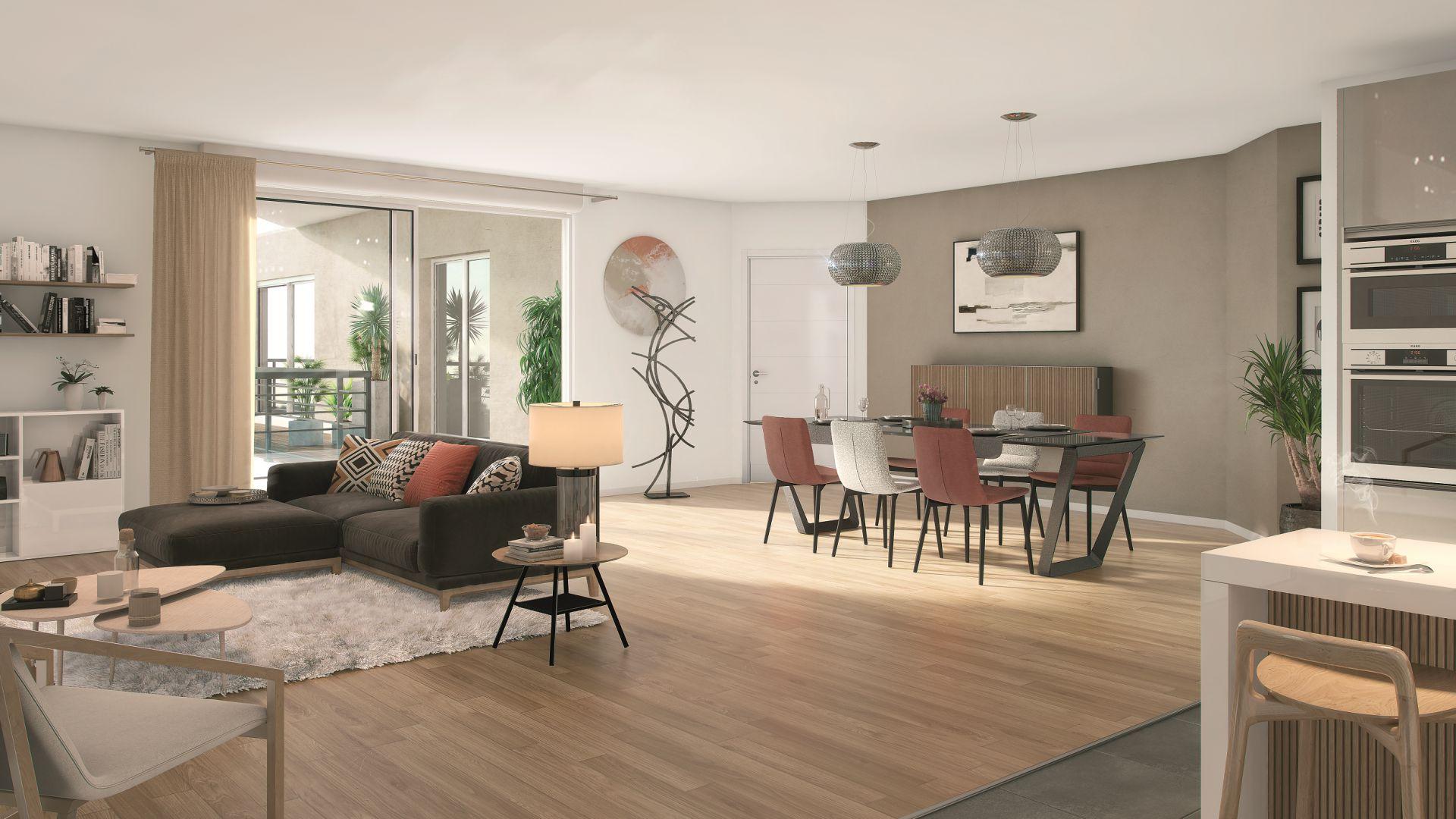 Greencity Immobilier - Résidence Le 26 Saint-Louis - 94100 Saint-Maur les Fossés - appartements neufs du T2 au T4 - vue intérieure