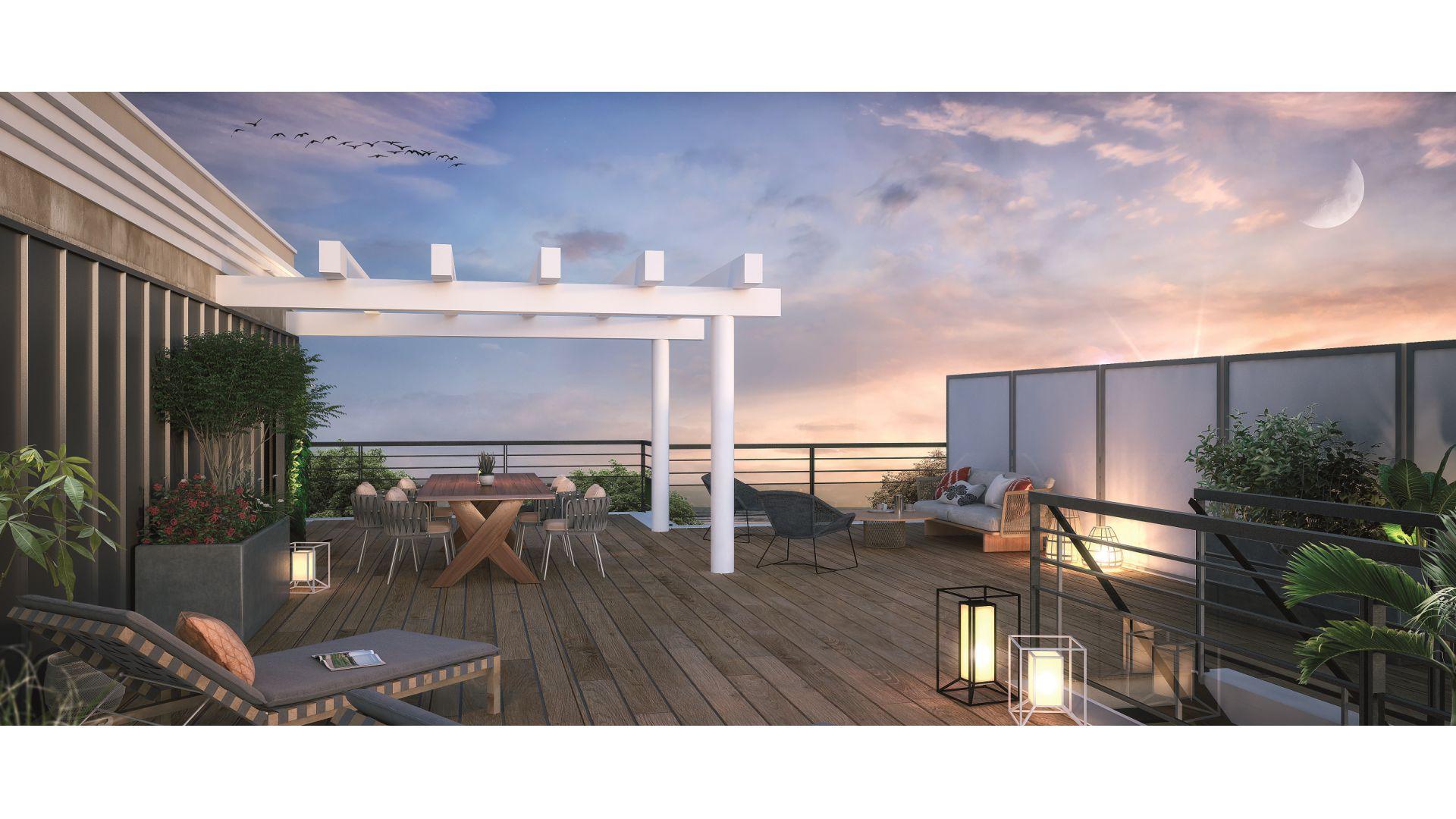 Greencity Immobilier - Résidence Le 26 Saint-Louis - 94100 Saint-Maur les Fossés - appartements neufs du T2 au T4 - vue terrasse