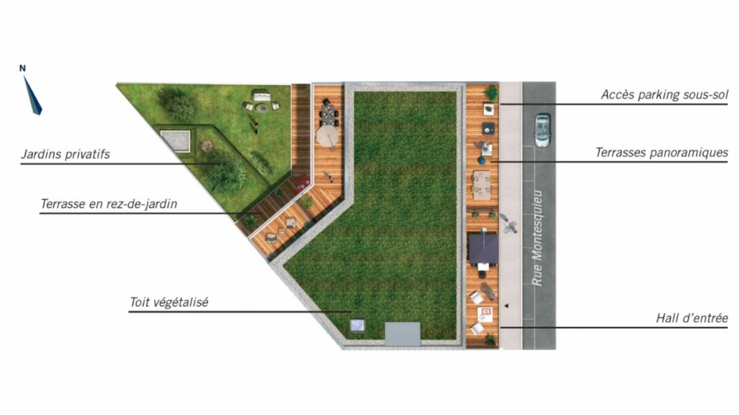 Greencity Immobilier - Le 35 Rive Gauche - Asnières - 92600 - plan de masse