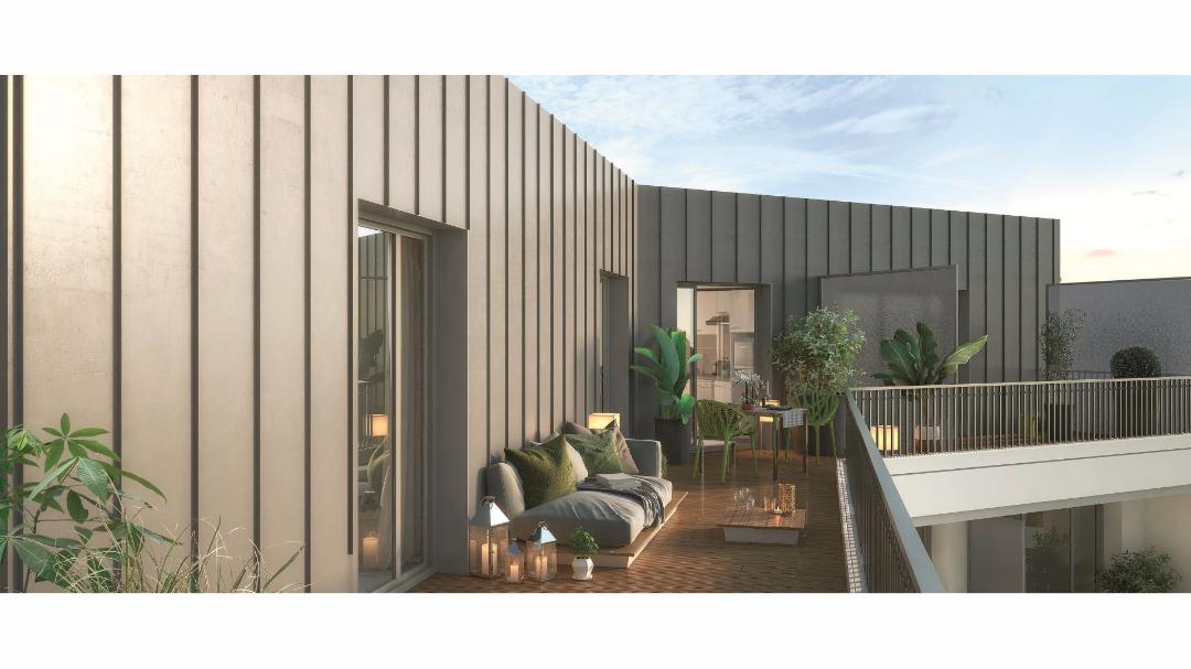 Greencity Immobilier - Le 35 Rive Gauche - Asnières - 92600 - terrasse