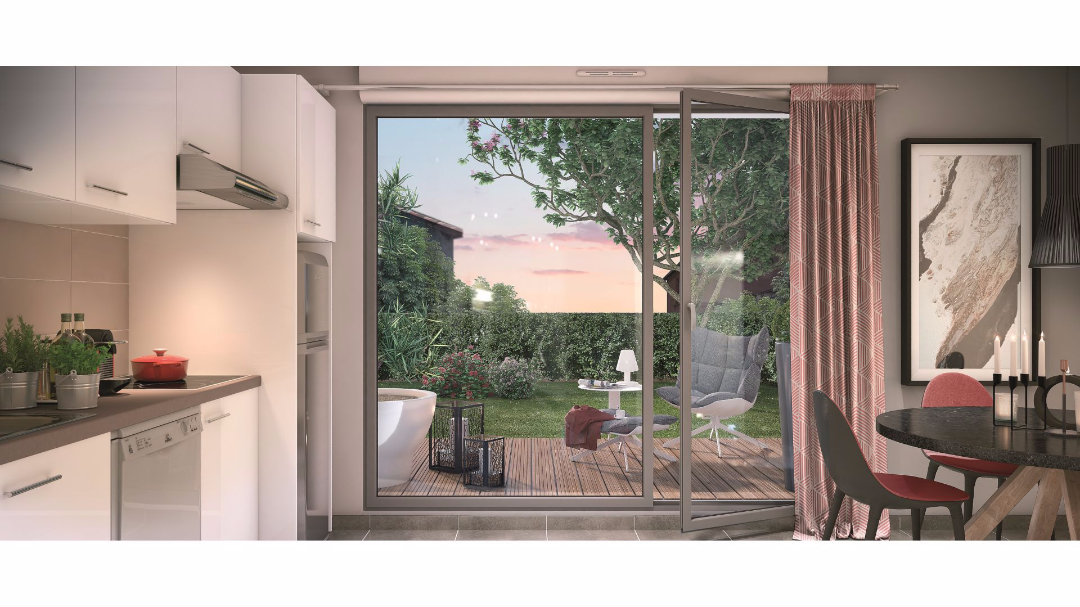 Greencity Immobilier - Le 37 - Toulouse - route de Narbonne - 31400 - terrasse