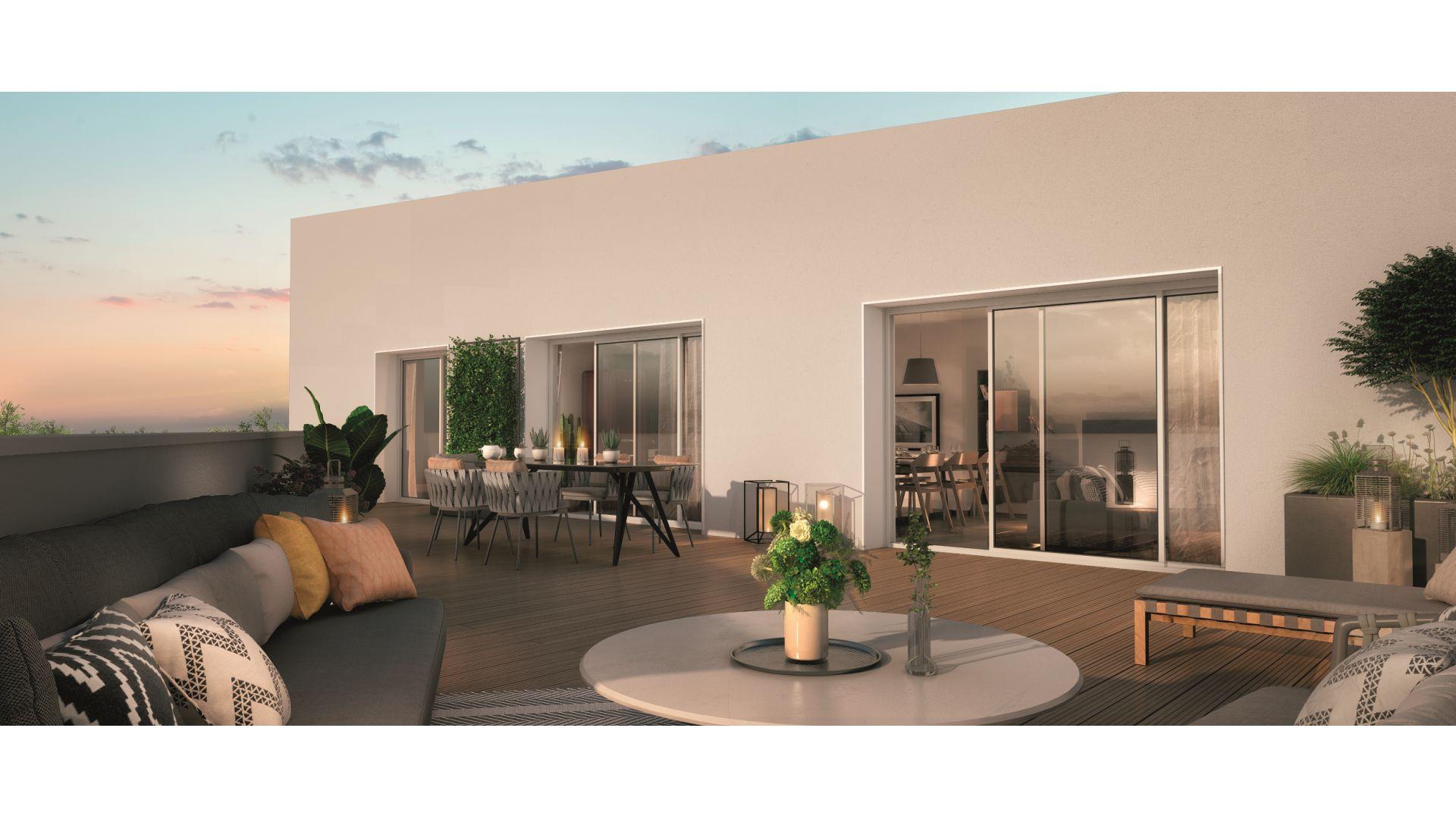GreenCity immobilier - Blagnac-Beauzelle - 31700 - LB47 - appartements et villas - T2 - T3 - T4 -T5 - vue terrasse