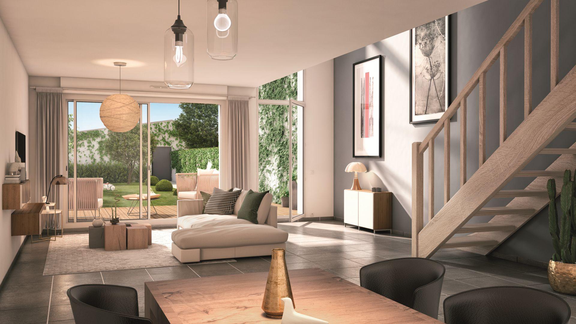 GreenCity immobilier - Blagnac-Beauzelle - 31700 - LB47 - appartements et villas - T2 - T3 - T4 -T5 - intérieur villa T4