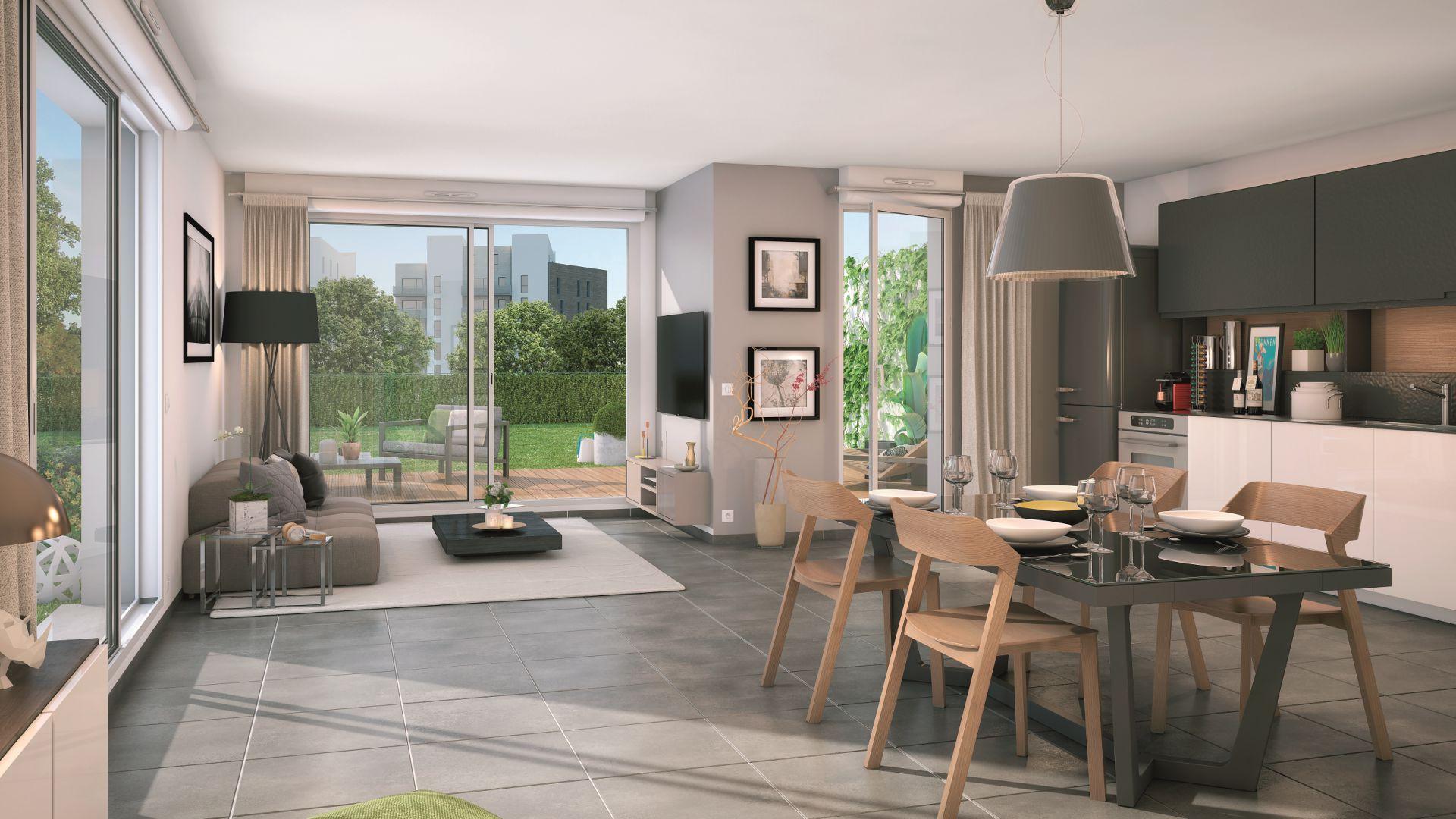 GreenCity immobilier - Blagnac-Beauzelle - 31700 - LB47 - appartements et villas - T2 - T3 - T4 -T5 - villa T5 intérieur
