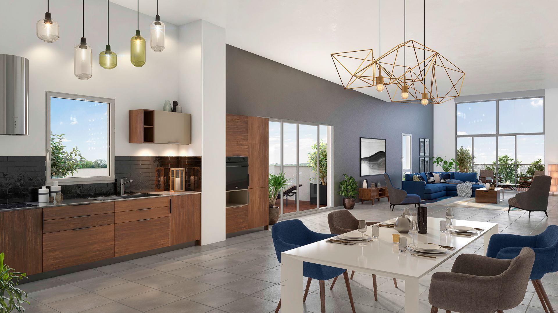 GreenCity immobilier - Blagnac-Beauzelle - 31700 - LB47 - appartements et villas - T2 - T3 - T4 -T5 - vue intérieure