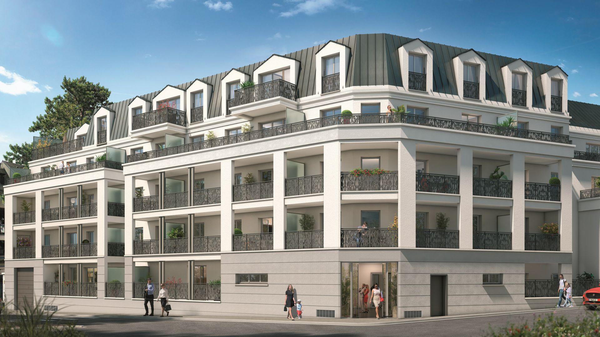 GreenCity Immobilier - Savigny sur Orge 91600 - Le Beaumont - appartements T1 Bis - T2 - T3 - T4 - vue rue