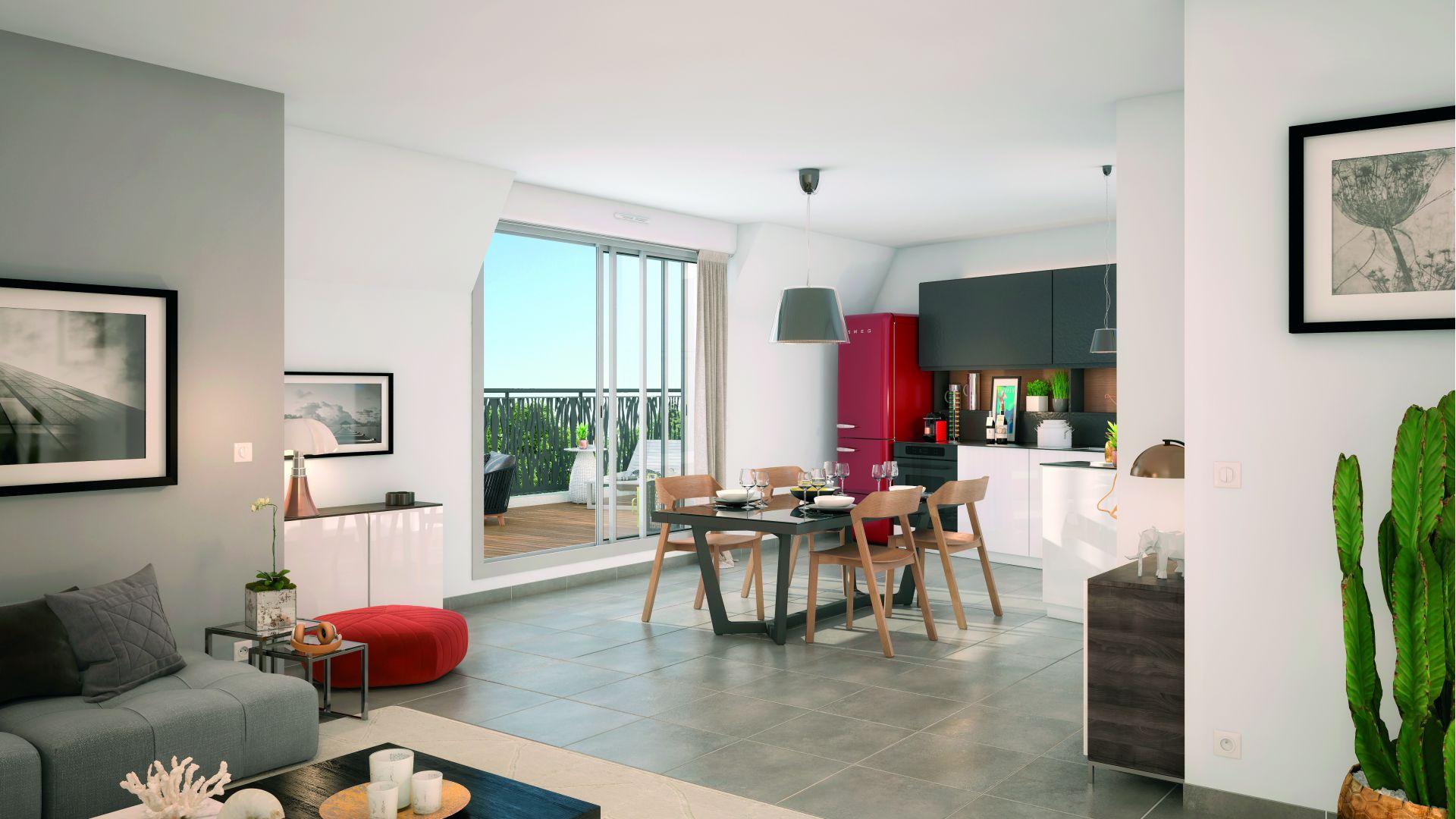 GreenCity Immobilier - Savigny sur Orge 91600 - Le Beaumont - appartements T1 Bis - T2 - T3 - T4 - vue rueintérieure
