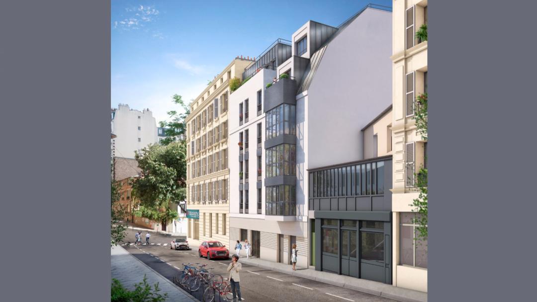Greencity Immobilier - Le Belleville - Paris 75020 - vue rue
