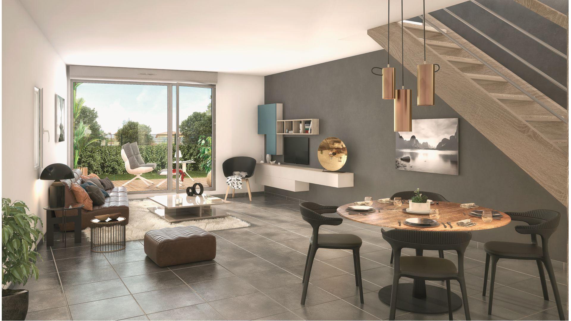 Greencity Immobilier - Le Bogey - Toulouse Saint-Simon 31100 Intérieur Villa T3