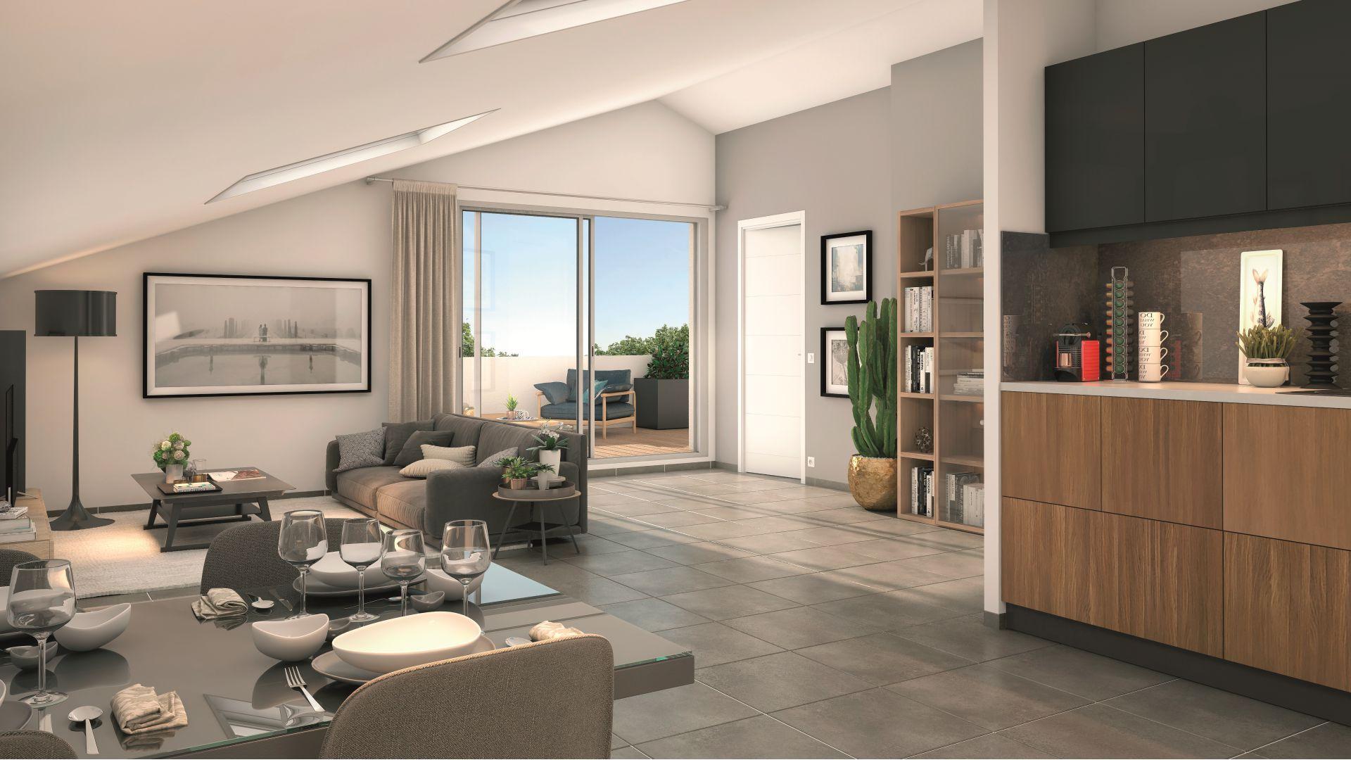 Greencity Immobilier - Le Bogey - Toulouse Saint-Simon 31100 intérieur Villa T4