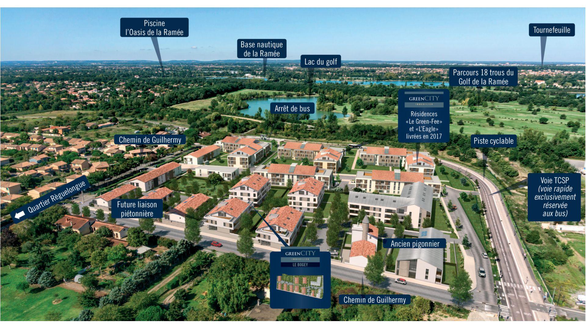 Greencity Immobilier - Le Bogey - Toulouse Saint-Simon 31100 insertion paysagère