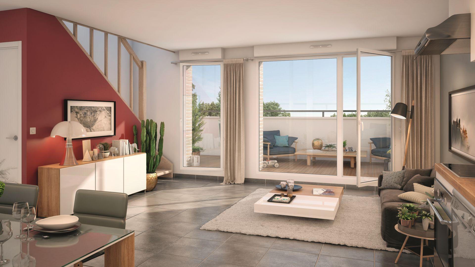 GreenCity immobilier - Livry-Gargan - 93190 - appartements du T1Bis au T3 Duplex - vue intérieure