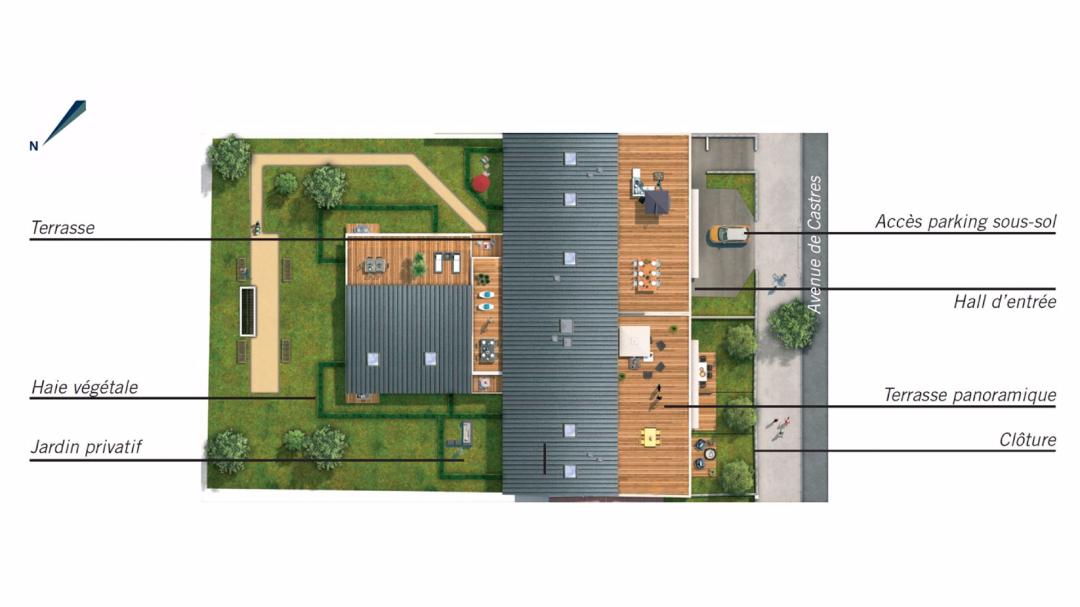 Greencity Immobilier - Le Cezanne - Toulouse - 31500-plan de masse