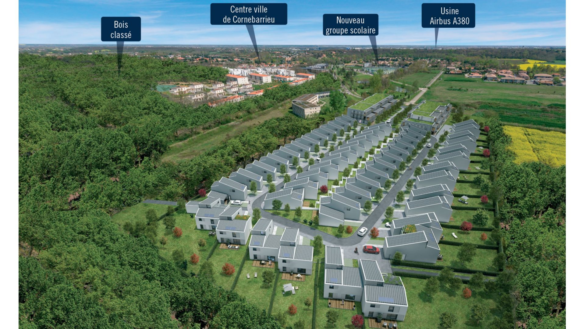 Greencity Immobilier - Cornebarrieu - Le Clos D'Agate - insertion paysagère