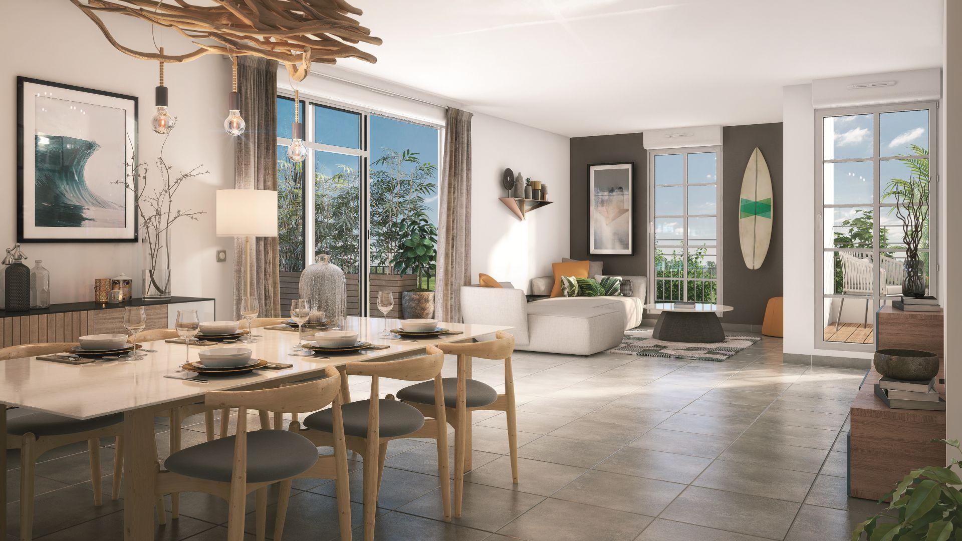 GreenCity immobilier - Biscarrosse - 40 600 - appartements du T1Bis au T4 - vue intérieure