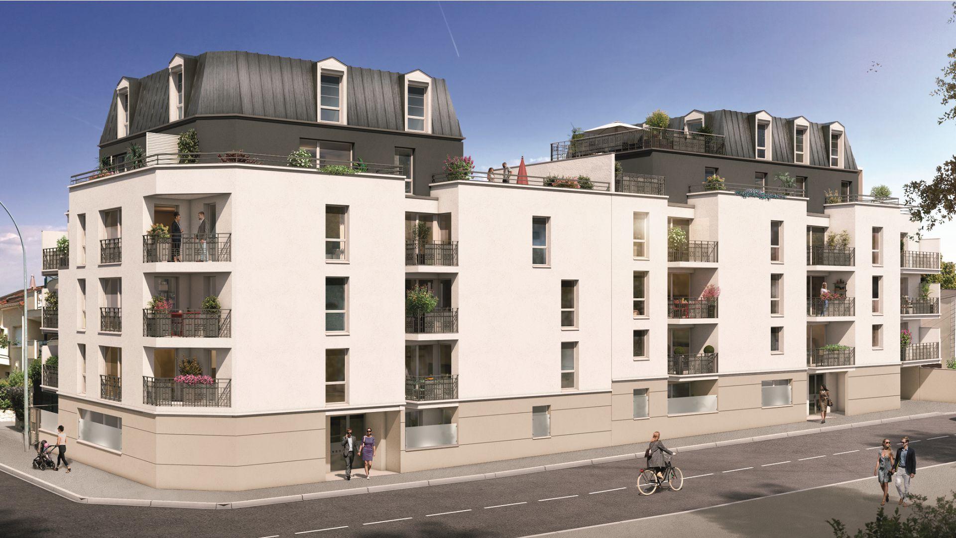 GreenCity immobilier - Savigny sur Orge - Résidence Le Clos D'Ambroise - 91600 - Appartements neufs du T1bis au T4