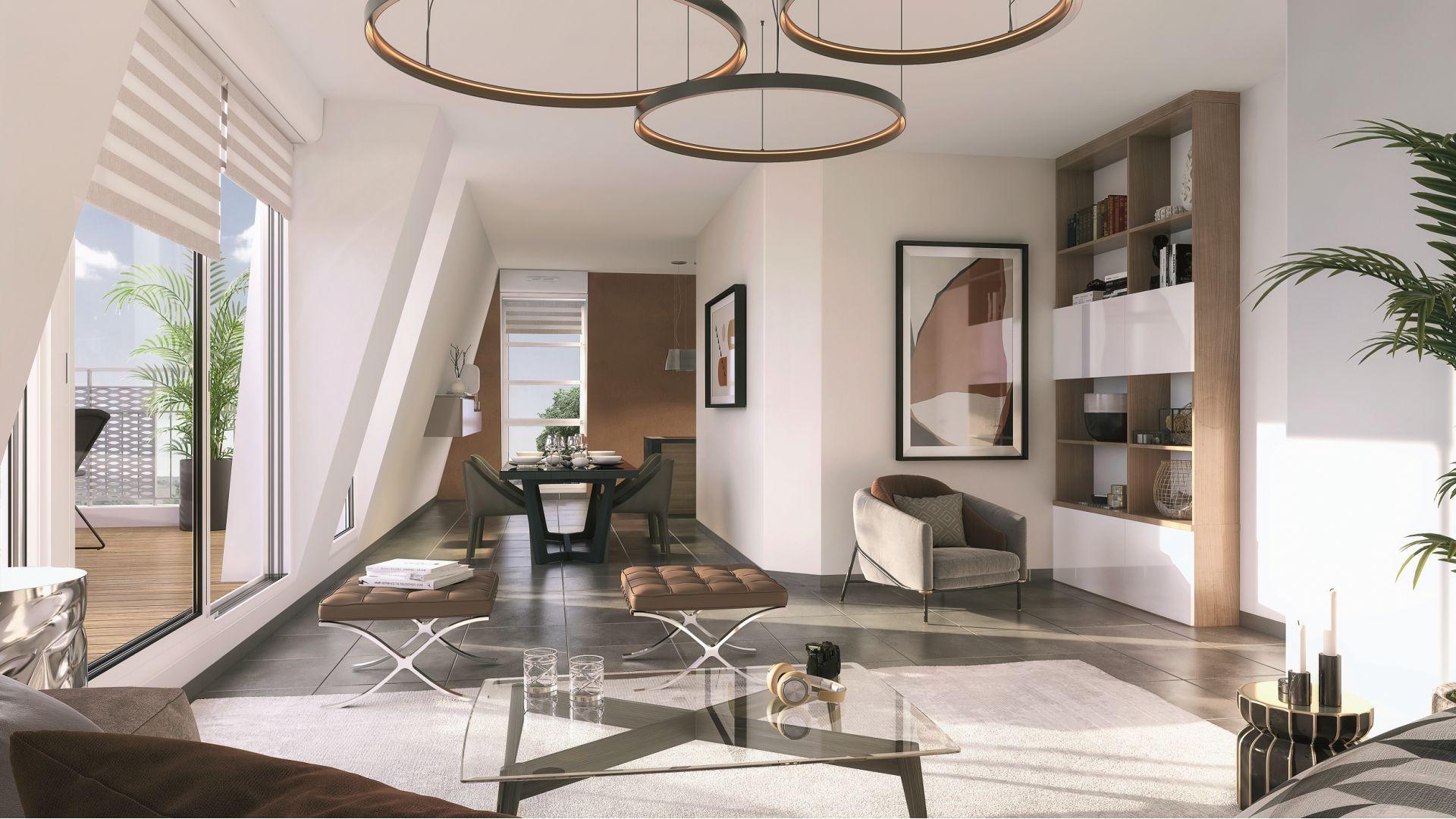 GreenCity immobilier - Savigny sur Orge - Résidence Le Clos D'Ambroise - 91600 - Appartements neufs du T1bis au T4 - vue intérieure