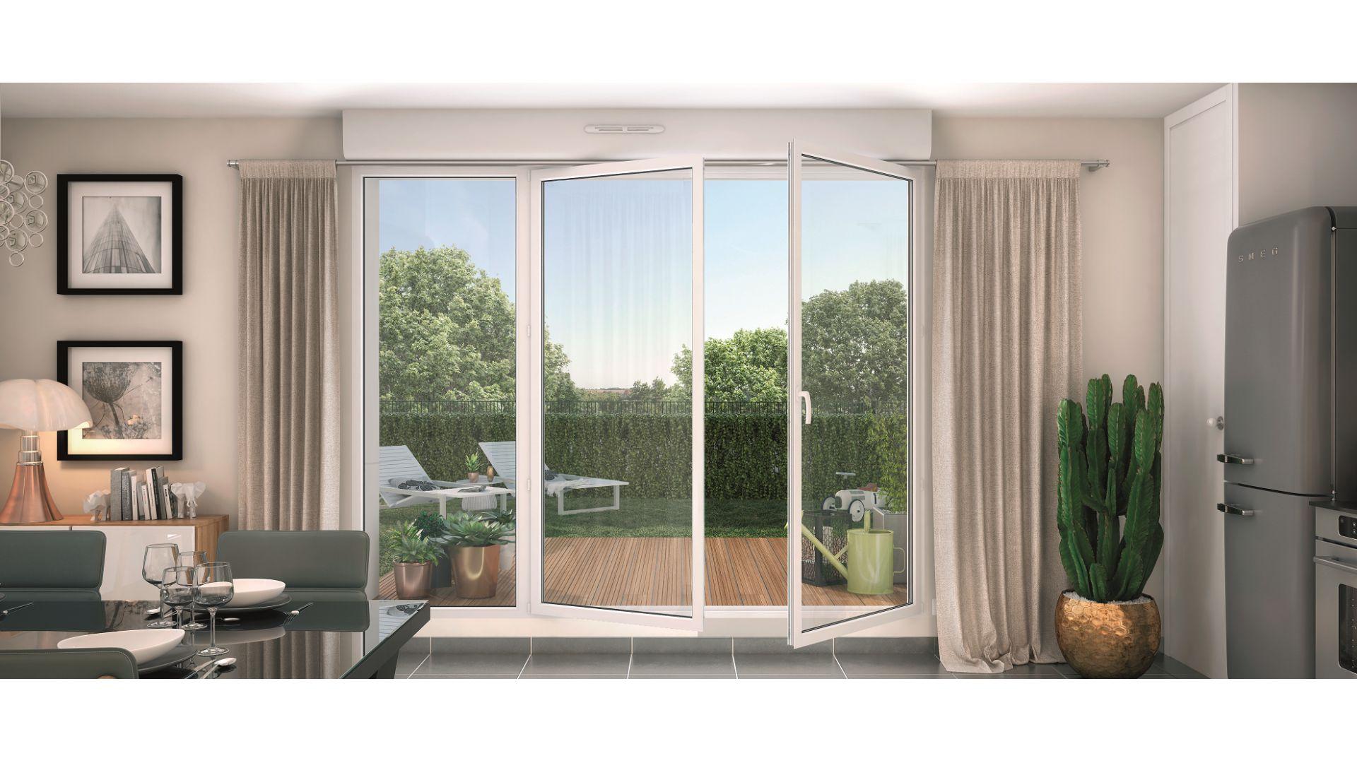 GreenCity immobilier - La Rochelle - Chatelaillon plage - Le Clos D Antoine - appartements et villas du T2 au T5 - vue Terrasse