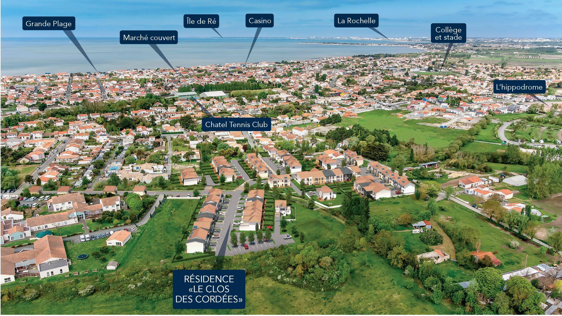 GreenCity immobilier - La Rochelle - Chatelaillon plage - Le Clos Des Cordées - appartements et villas du T2 au T5  - insertion paysagère