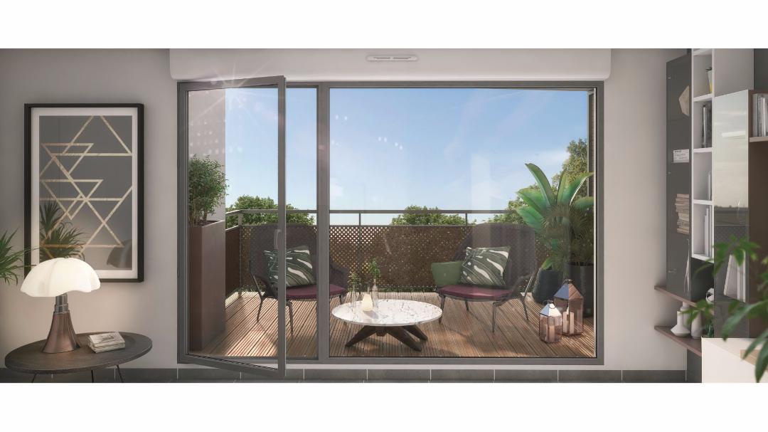 Greencity Immobilier - Le Clos de L'Hermitage - Toulouse - 31100 - terrasse