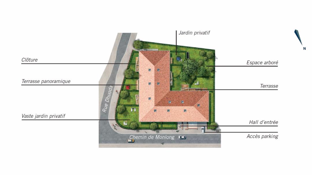 Greencity Immobilier - Le Clos de L'Hermitage - Toulouse - 31100 - plan de masse