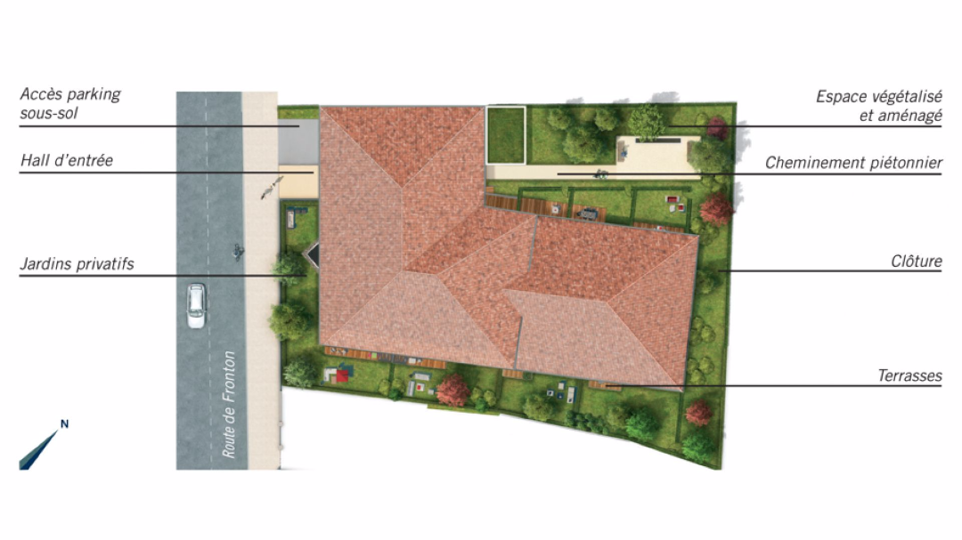 Greencity Immobilier - Le Clos des Lilas - Saint-Alban-31140-plan de masse