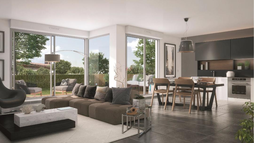 Greencity Immobilier - Le Clos D'Iris - Saint-Jory - 31790 - intérieur T5