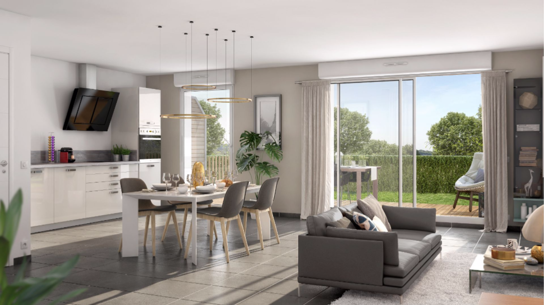 Greencity Immobilier - Le Clos D'Iris - Saint-Jory - 31790 - intérieur T4