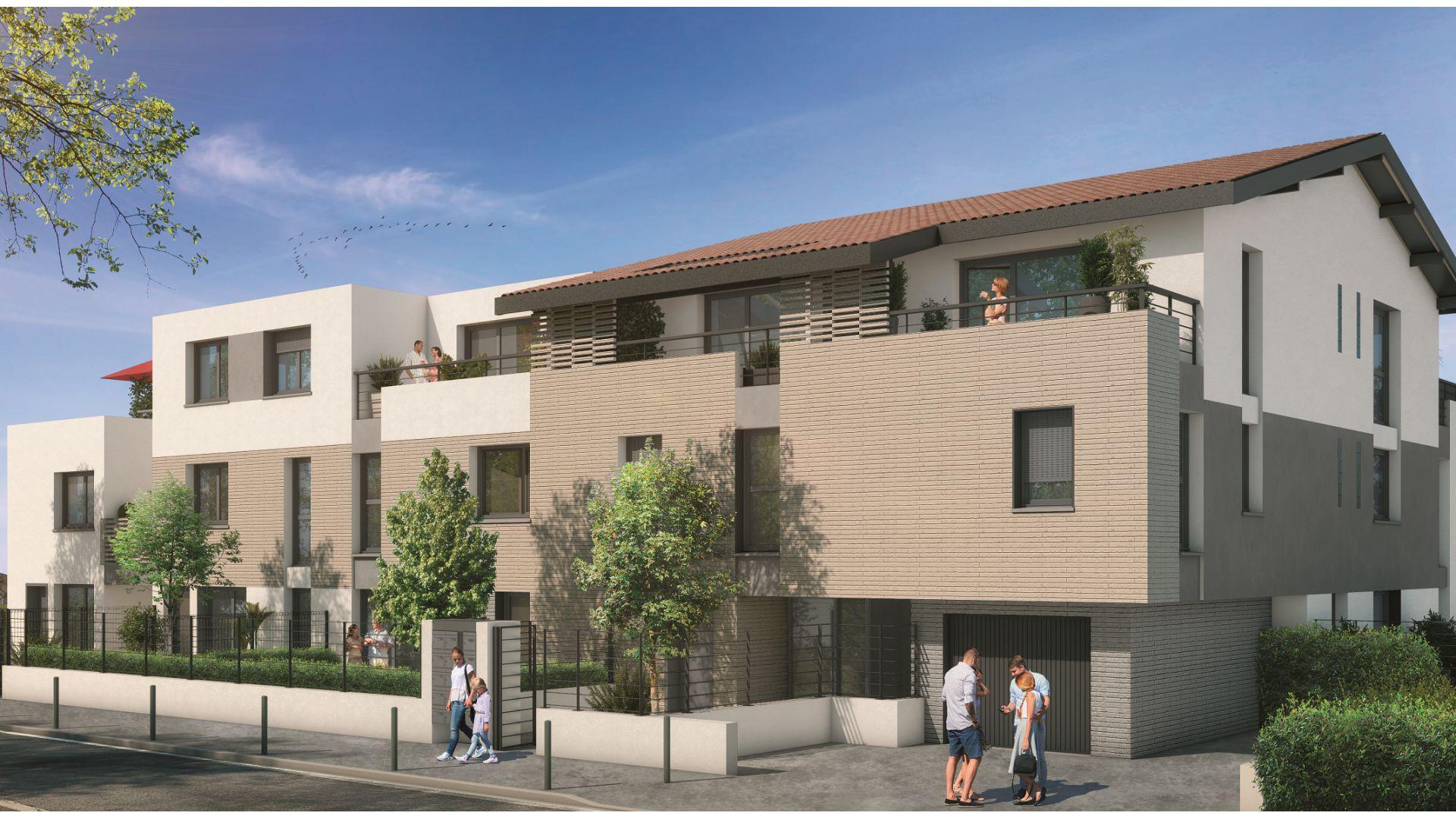 GreenCity immobilier - Toulouse rangueil 31400 - Le clos Juliette - appartements du T2 au T3duplex