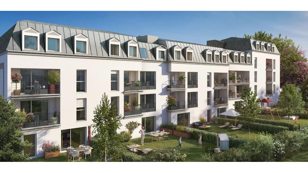 Greencity Immobilier - Résidence Le Fantasio - achat appartements du T1au T3 - Savigny-sur-Orge 91600 - vue jardin