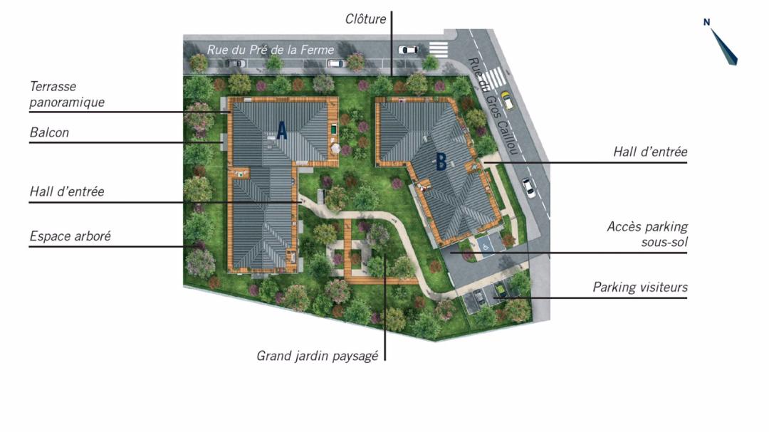 Greencity Immobilier - Le Flaubert - Cesson - 77240 - plan de masse