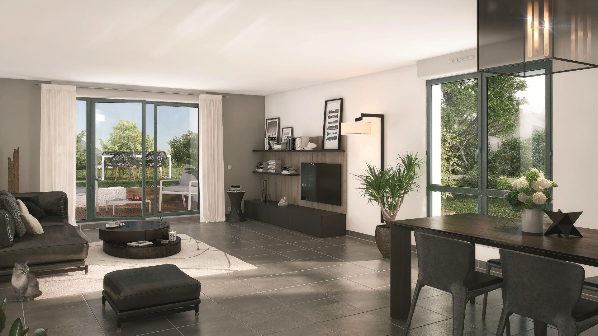 GreenCity Immobilier - Choisy-Le-Roi - Le Form-L- appartement du T1Bis au T4 - Vue intérieure