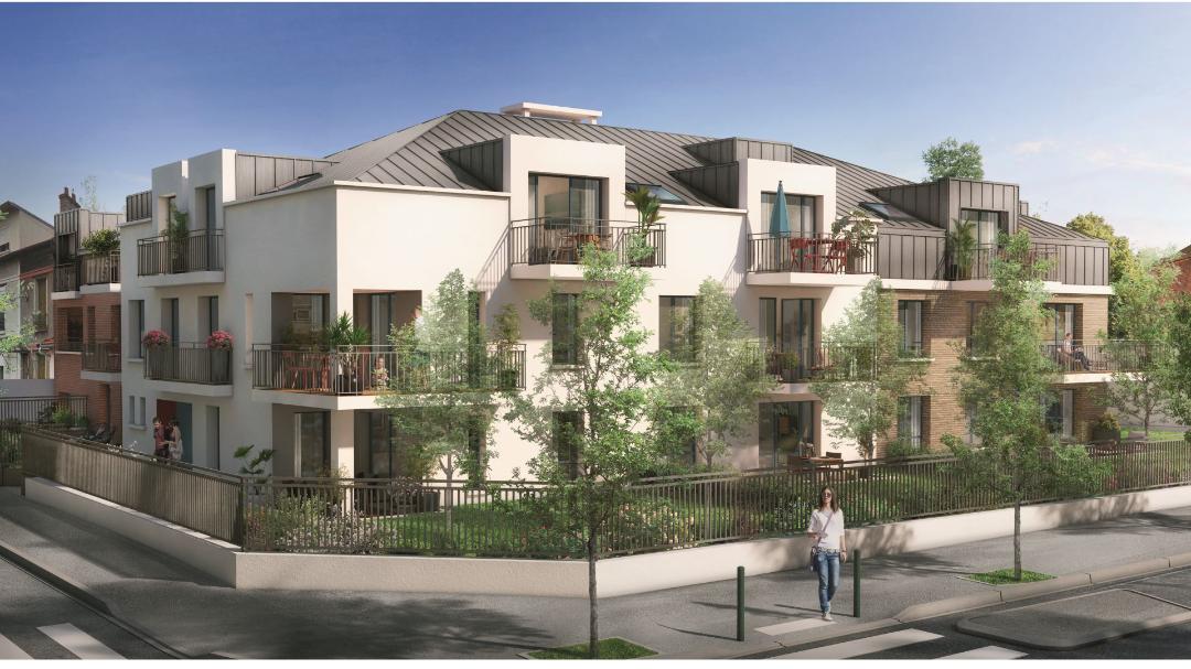 GreenCity Immobilier - Choisy-Le-Roi - Le Form-L- appartement du T1Bis au T4 - Vue rue