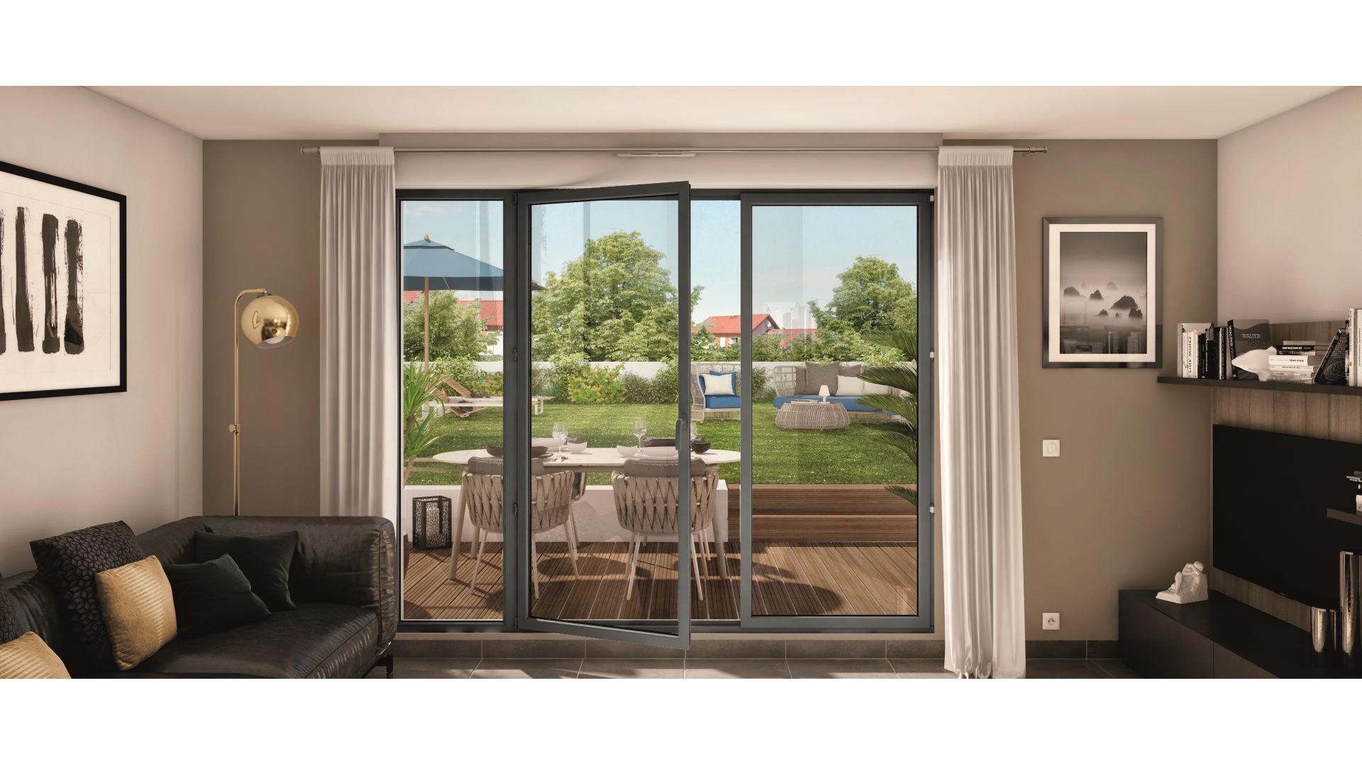 GreenCity Immobilier - Choisy-Le-Roi - Le Form-L- appartement du T1Bis au T4 - Vue terrasse