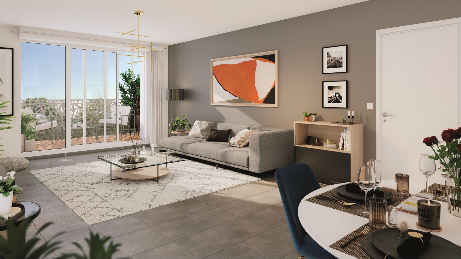 GreenCity immobilier - Vert-Le-Petit - 91710 - résidence Le Green Val - appartements neufs T2 - T3 - T4  - vue intérieure