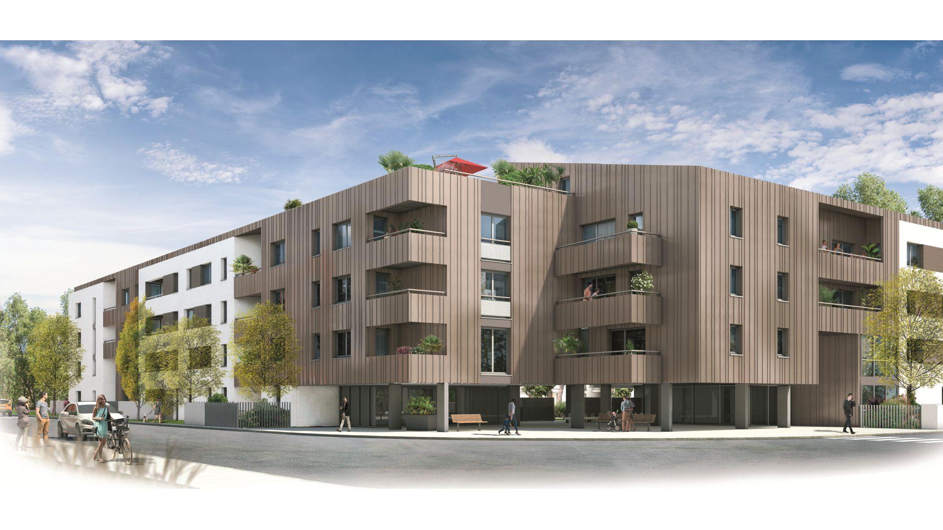 GreenCity immobilier - Toulouse Montaudran - rue rodier - GreenGarden 2 - appartement du T1 au T4 - accession prix maitrisés