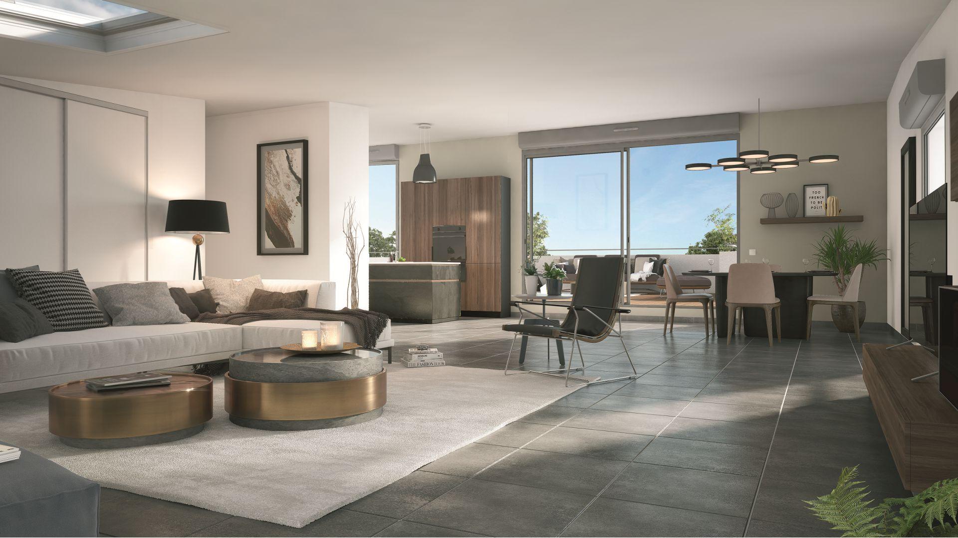 GreenCity immobilier - Toulouse Montaudran - rue rodier - GreenGarden 2 - appartement du T1 au T4 - accession prix maitrisés - vue intérieure