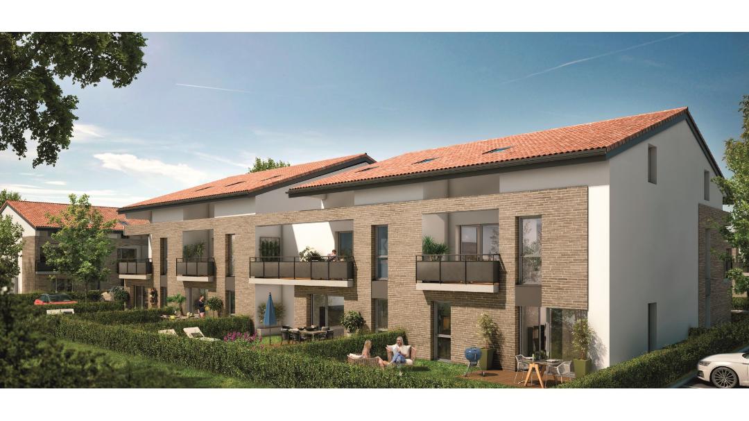 GreenCity immobilier - Mondonville - Le Hameau de Mondonville appartements du T2 au T4 - Le Hameau de Mondonville 31700 - vue 1