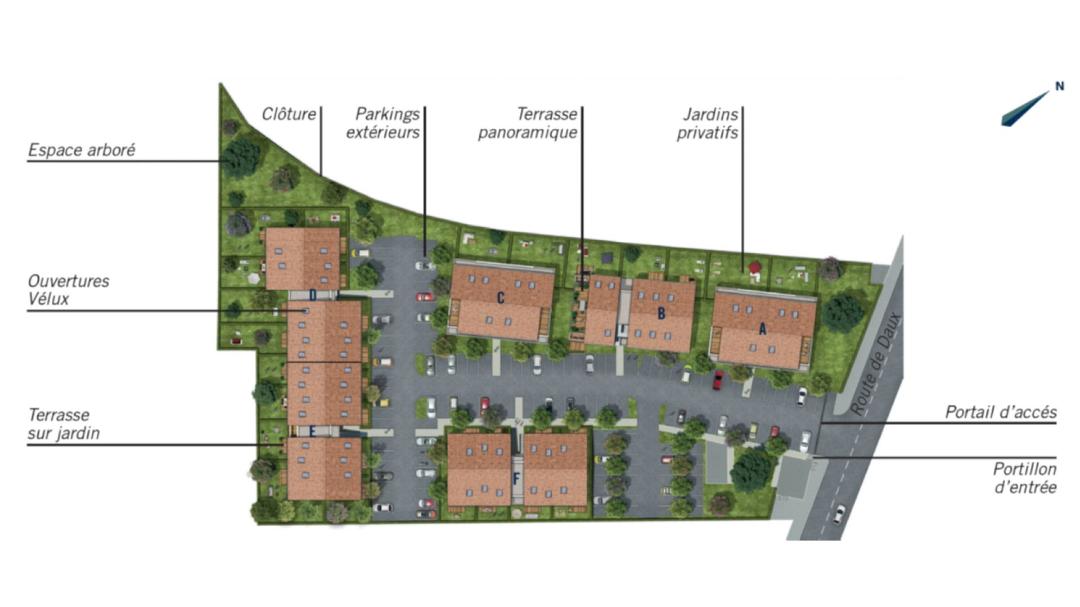 GreenCity immobilier - Mondonville - Le Hameau de Mondonville appartements du T2 au T4 - Le Hameau de Mondonville 31700