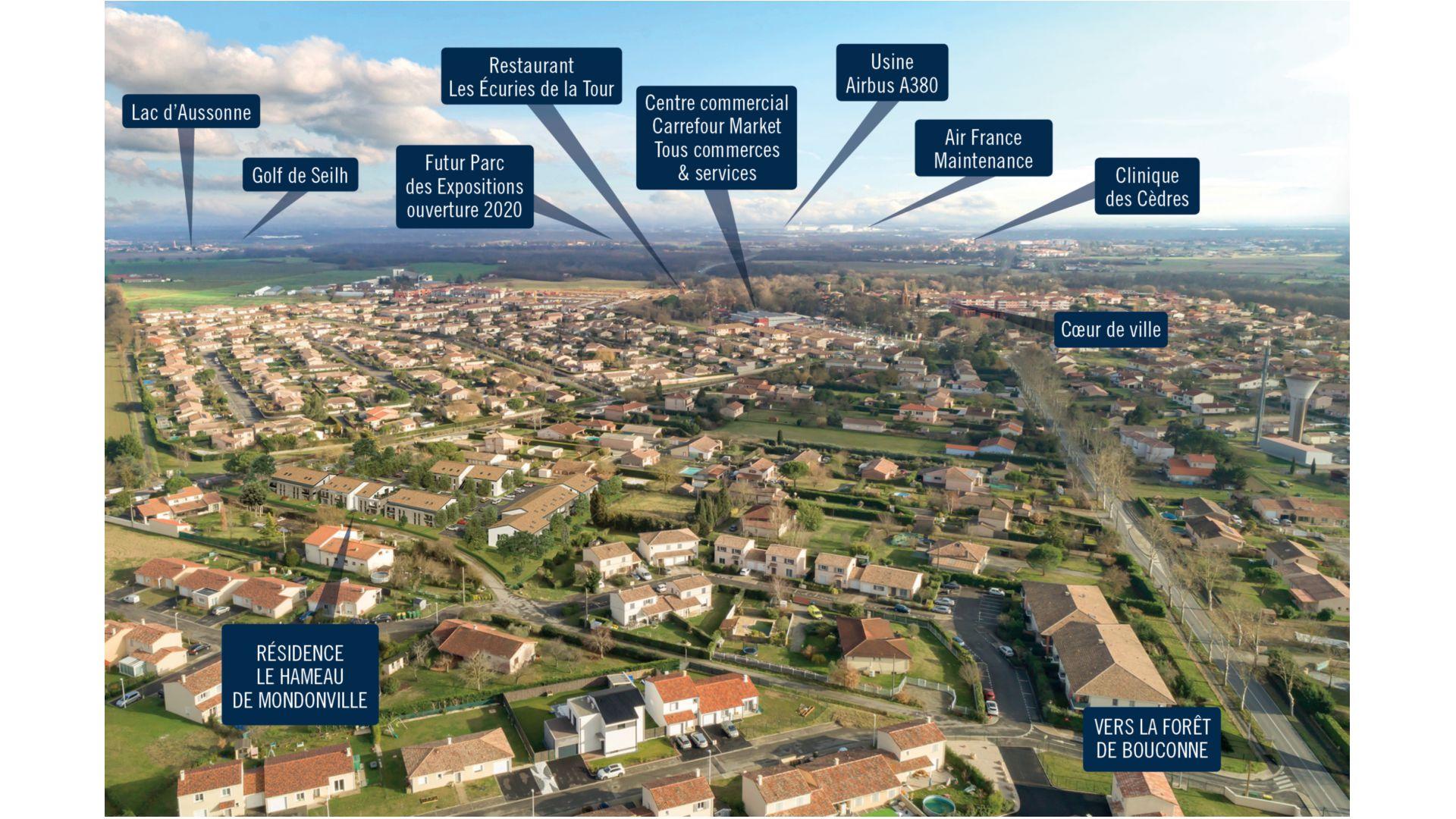 GreenCity immobilier - Mondonville - Le Hameau de Mondonville appartements du T2 au T4 - Le Hameau de Mondonville 31700 - vue paysagère