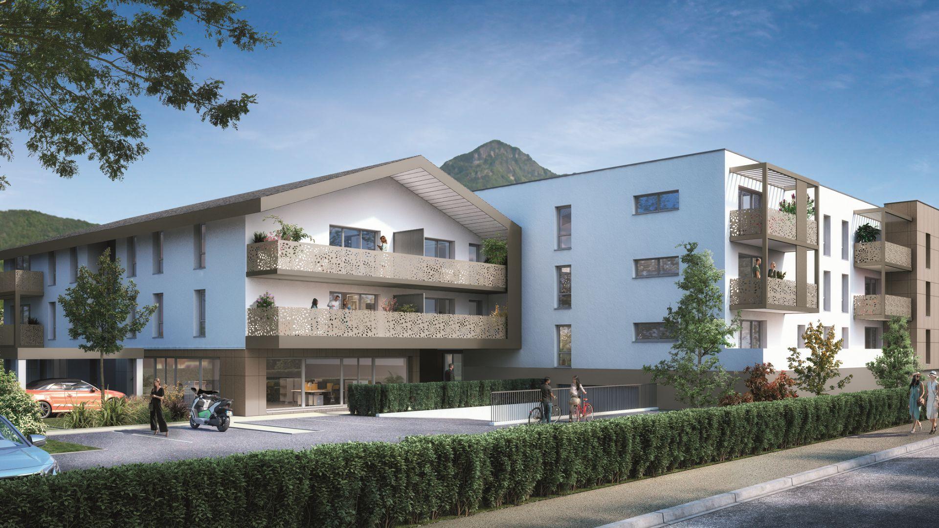 GreenCity immobilier - Thyez - 74300 - proche Genève - Résidence Le Jardin D'Aubeline - Appartements neuf du T1 au T3