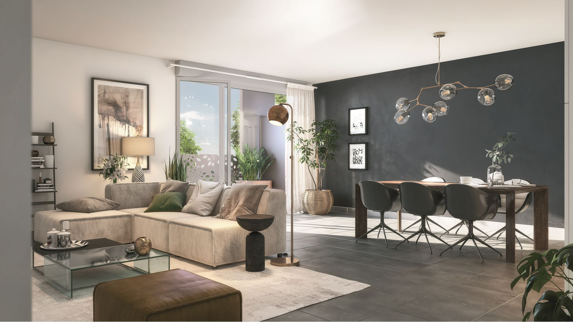 GreenCity immobilier - Thyez - 74300 - proche Genève - Résidence Le Jardin D'Aubeline - Appartements neuf du T1 au T3 - vue intérieure