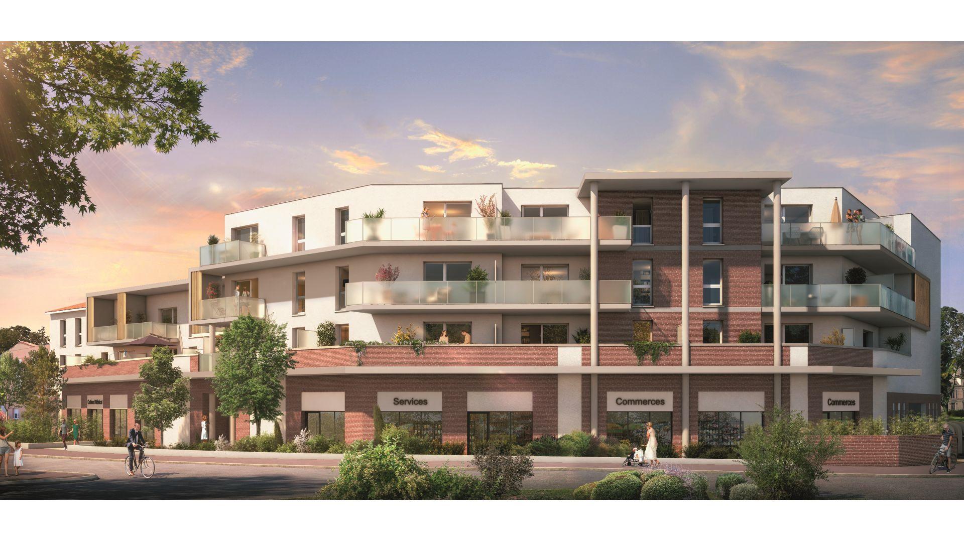 Greencity Immobilier - Le Madison - 31860 Labarthe sur Lèze - achat appartements neufs du T2 au T3