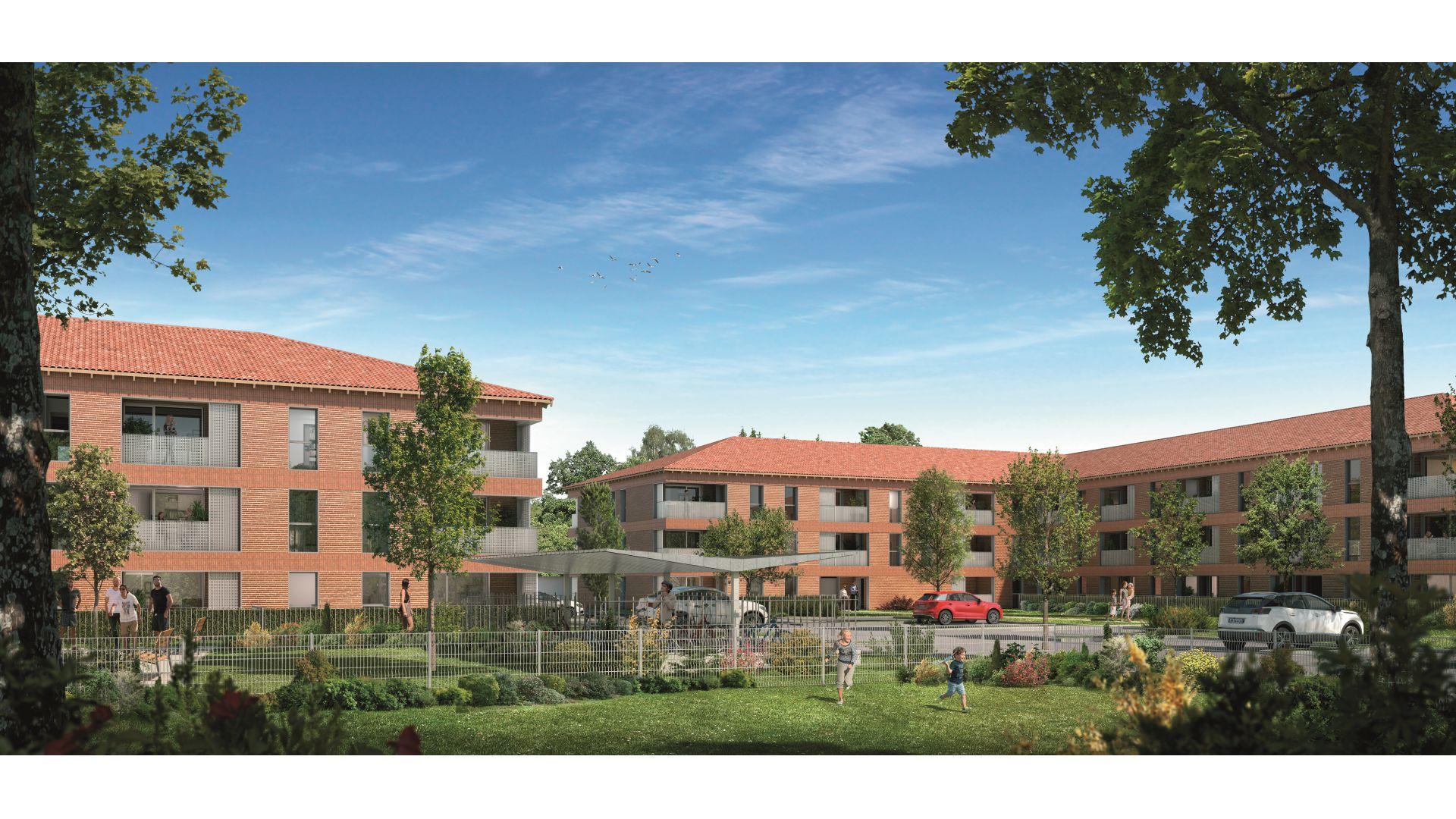 GreenCity immobilier - Saint-Jory - 31790 - Résidence Le Mas Séréna - appartements neufs du T2 au T3