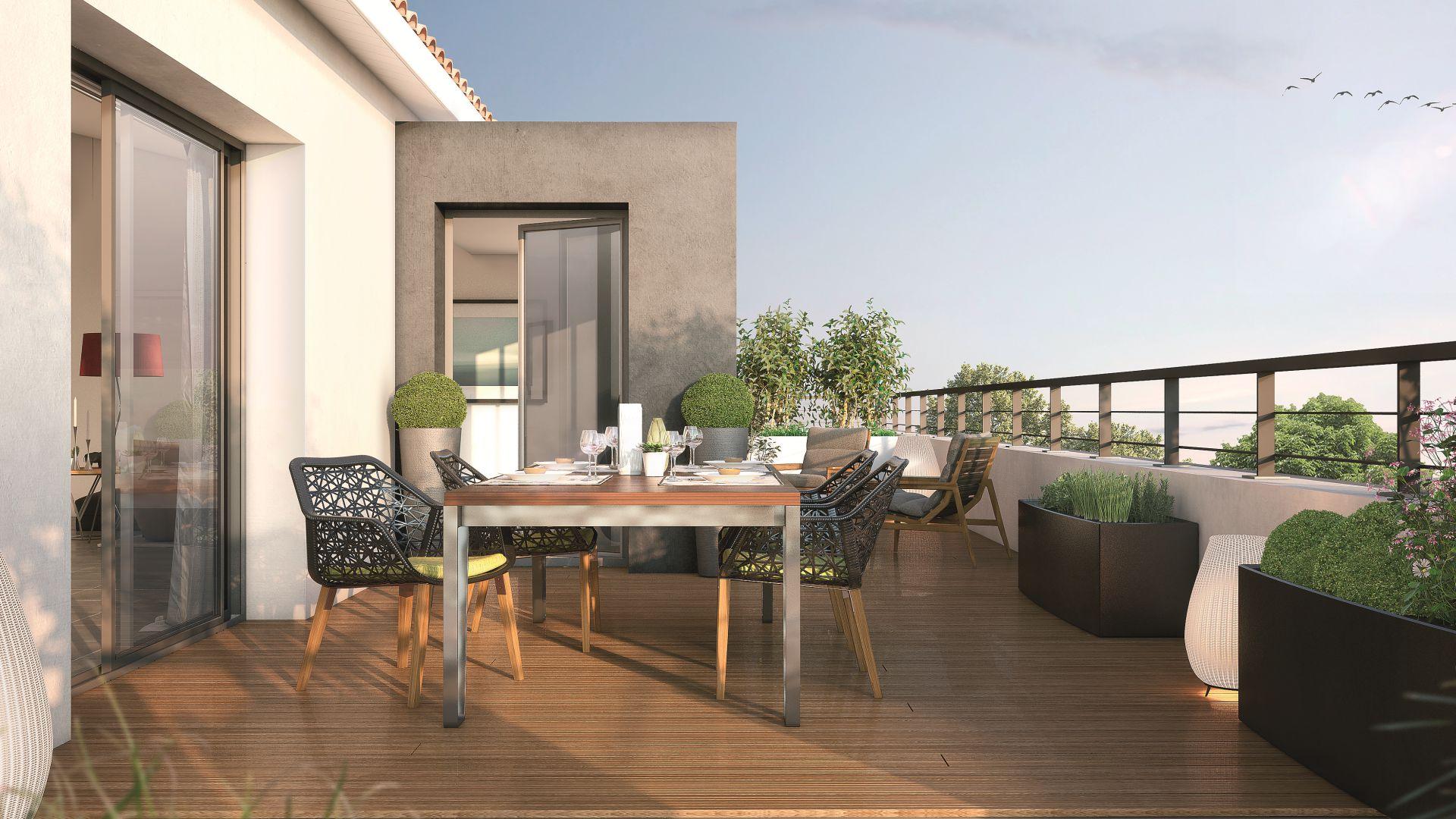 GreenCity Immobilier - Toulouse Brienne - Le Patio de Brienne - Terrasse