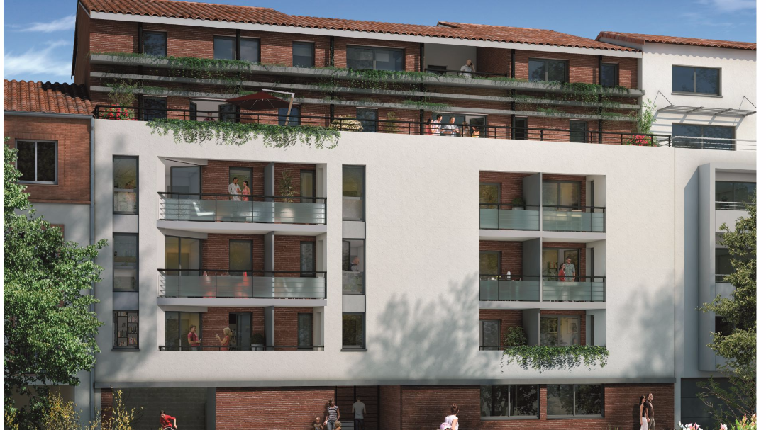 GreenCity Immobilier - Toulouse Brienne - Le Patio de Brienne - Vue rue