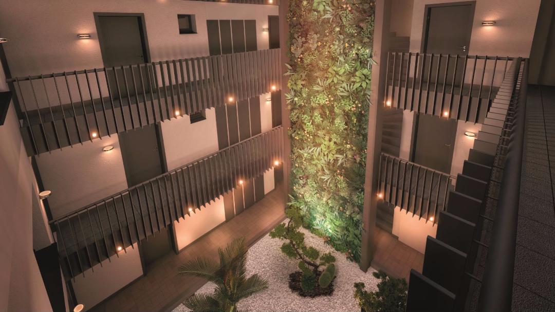 GreenCity Immobilier - Toulouse Brienne - Le Patio de Brienne - Vue patio intérieur
