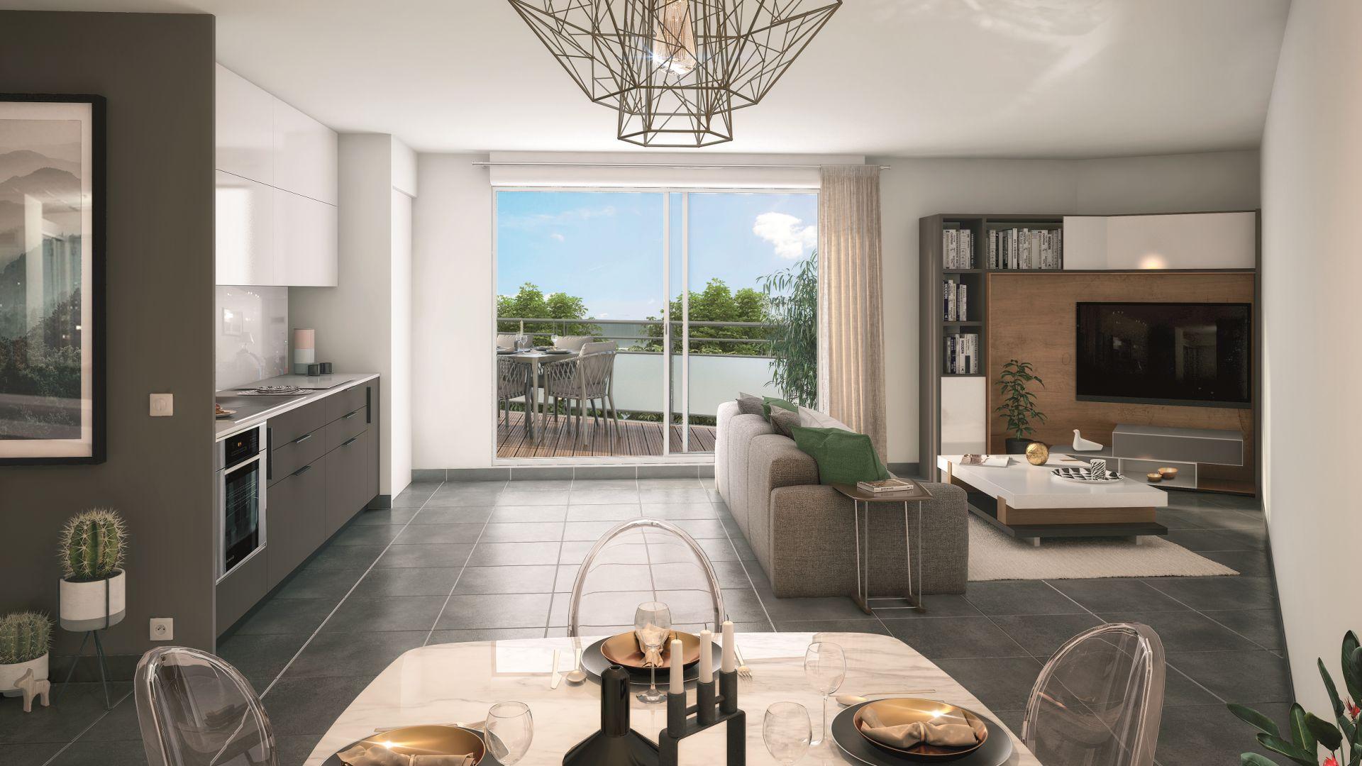 GreenCity Immobilier - Chennevières sur Marne - 94430 - appartement du T2 au T4 - vue intérieure