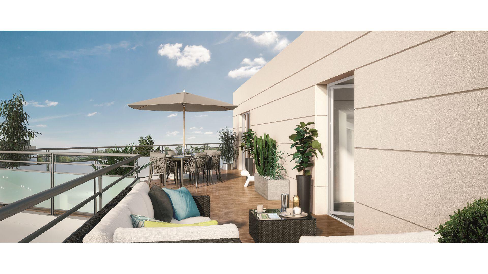 GreenCity Immobilier - Chennevières sur Marne - 94430 - appartement du T2 au T4 - vue terrasse