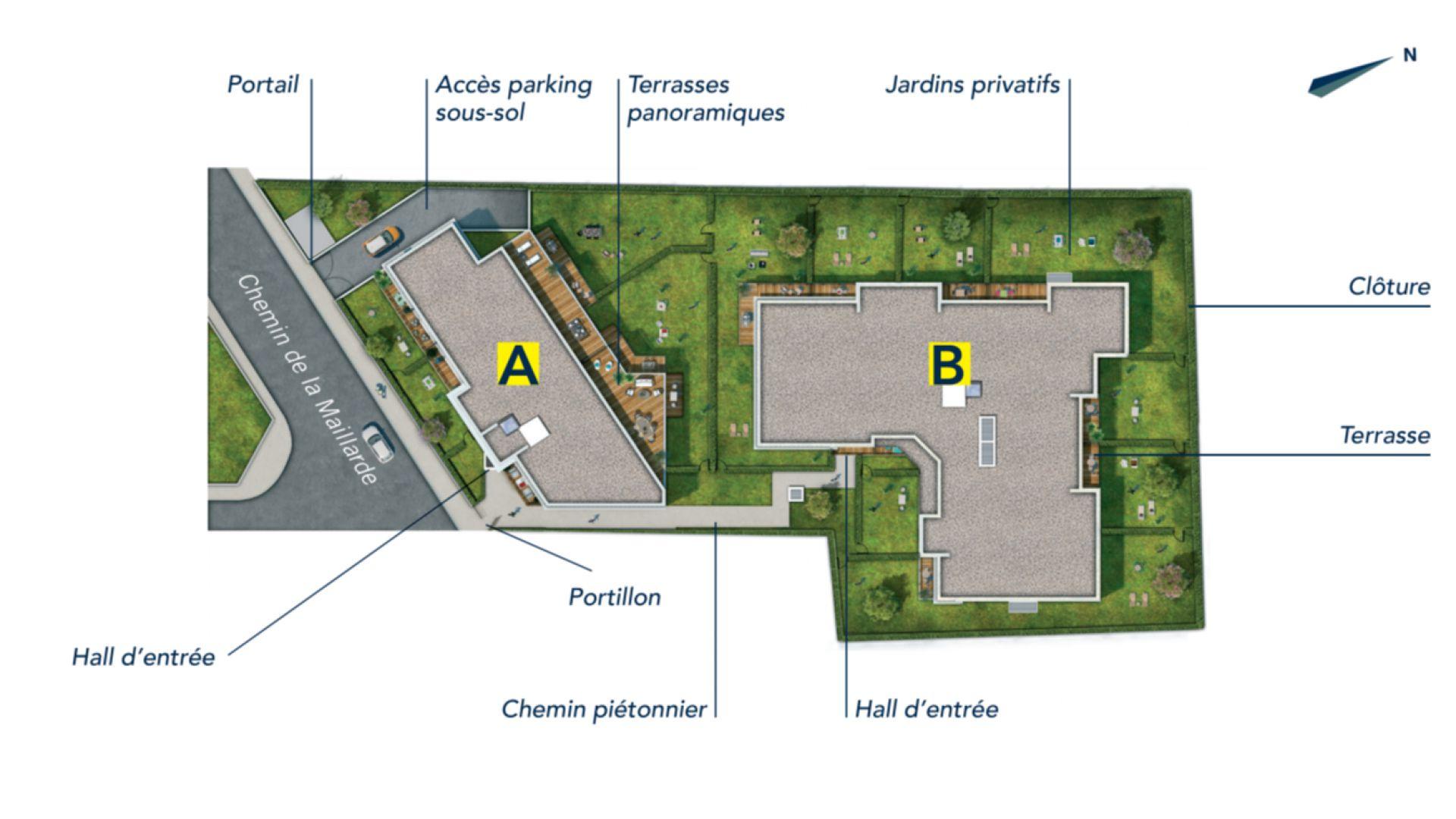 GreenCity Immobilier - Chennevières sur Marne - 94430 - appartement du T2 au T4 - plan de masse